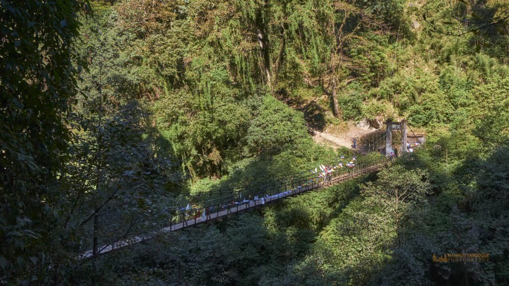 সাচেন থেকে শোকা যাবার পথে চার নাম্বার শেষ ব্রিজ